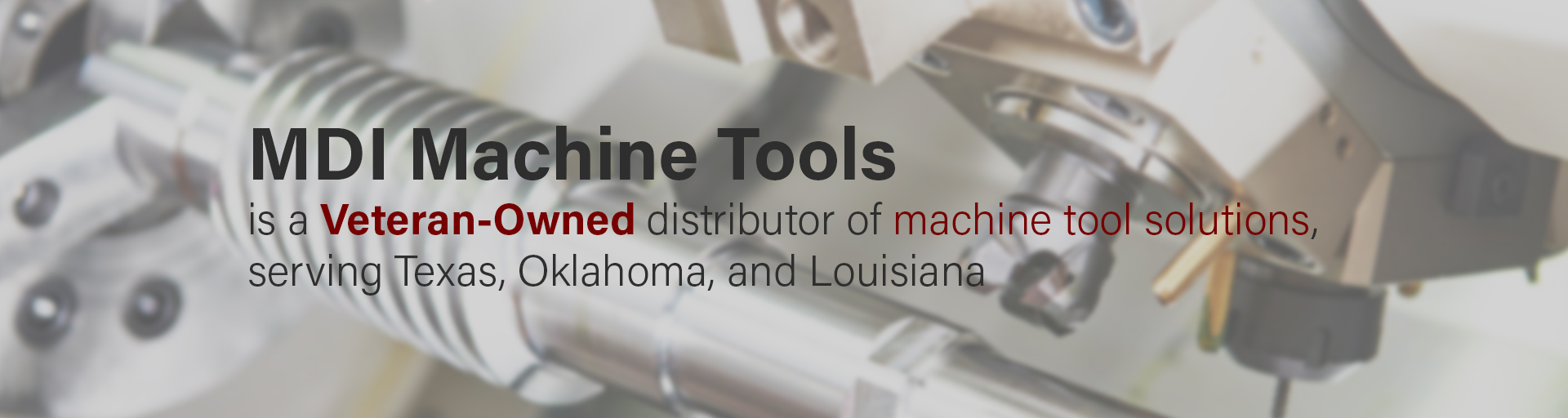 MDI Machine Tools Header Homepage Banner